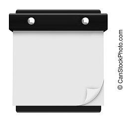 牆, 空白, -, 懸挂, 日曆, 頁