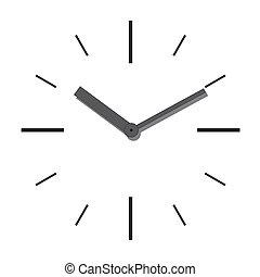牆, clock., 矢量, illustration.