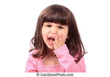 牙痛, 孩子