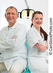 牙醫, 在, 他們, 外科