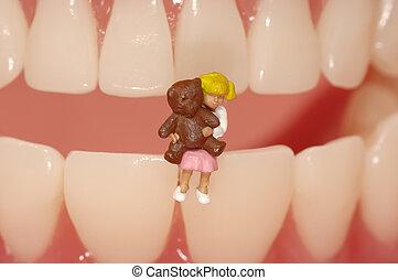 牙齒, 小兒科