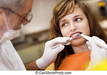 牙齒, 訪問