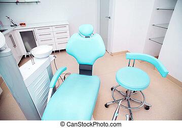 牙齒, 門診部, 內部設計, 由于, 椅子, 以及, 工具