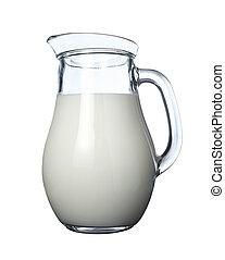 牛奶, 罐子, 食物, 飲料, 鈣
