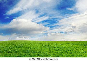 牧草地, 緑