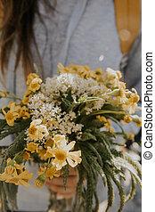 牧草地, 花, 花束