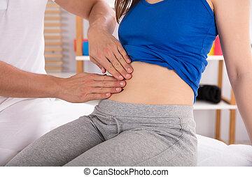 物理療法家, 女性, 胃, 検査