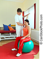 物理療法家, 患者, 運動