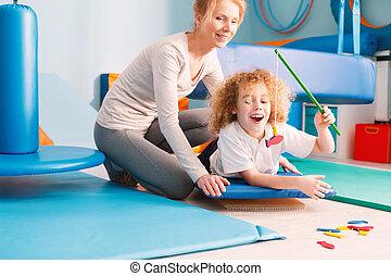 物理療法家, 遊び, 子供
