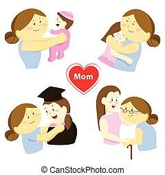 物語, 娘, 彼女, について, 母, 愛