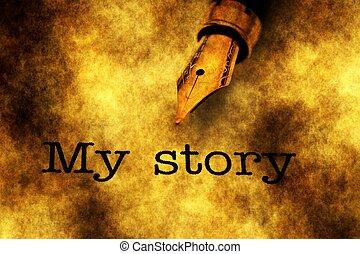 物語, 私