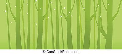 特写镜头, 树, 树林