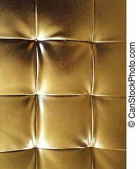 特写镜头, 金子, 皮革沙发, 结构, 葡萄收获期