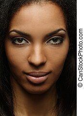 特寫鏡頭, 婦女, 射擊, african american