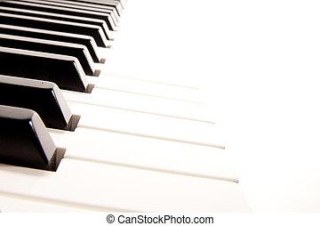 特寫鏡頭, 白色, 電子鋼琴, 鍵盤