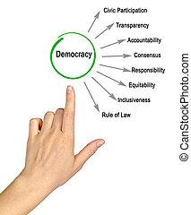 特徴, の, 民主主義