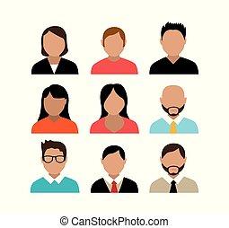 特徴, グループ, avatar, 人々