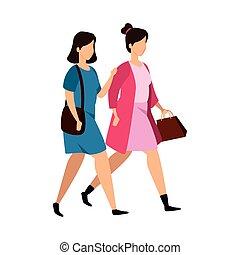 特徴, グループ, avatar, 女性