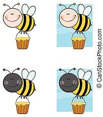 特徴, -, コレクション, 蜂, 6, 漫画, マスコット