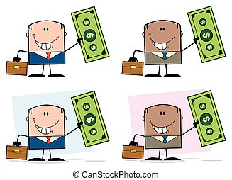 特徴, -, コレクション, 6, ビジネスマン, 漫画