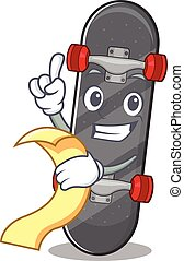 特徴, スケートボード, 面白い, メニュー, 漫画