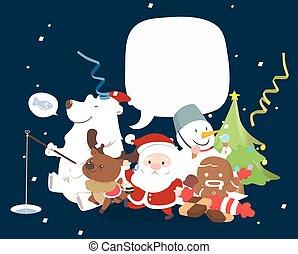 特徴, スピーチ, クリスマス, 泡