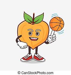 特徴, バスケットボール, eggfruit, マスコット, 漫画