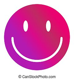 特徴, ベクトル, emoticon, 微笑, アイコン, 隔離された, 顔, 白, 幸せ, バックグラウンド。