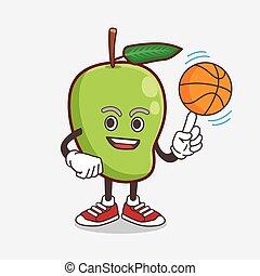 特徴, マンゴー, バスケットボール, マスコット, フルーツ, 漫画