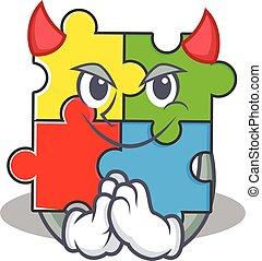 特徴, 悪魔, おもちゃ, 困惑, デザイン, 漫画