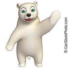 特徴, 漫画, 北極, 指すこと, 熊