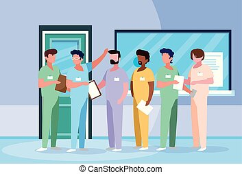 特徴, 病院, グループ, avatar, 医者
