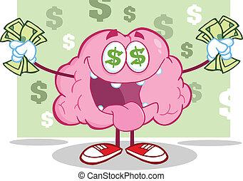 特徴, 脳, お金, 情事