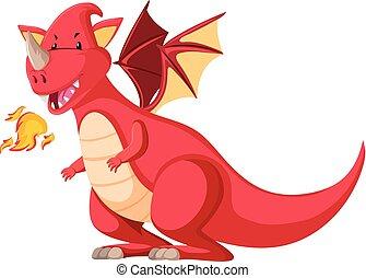 特徴, 赤, ドラゴン