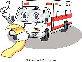 特徴, 面白い, メニュー, 救急車, 漫画