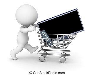 特徴, 3d, hdtv, 買い物