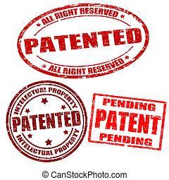 特許を取った, スタンプ, セット