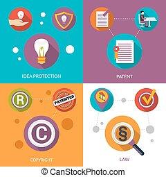 特許, 保護, 考え
