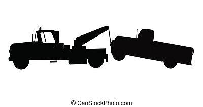 牽引 トラック, towing, トラック