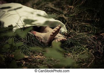 犠牲者, 体, より低い, 捨てられた, 殺人