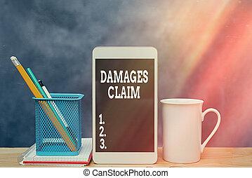犠牲者, 損傷, 概念, 修理, ビジネス, ペーパー, 執筆, seeks, claim., ∥あるいは∥, 写真, パーティー, showcasing, 手, 別, 付属品, バックグラウンド。, 責任, 提示, smartphone