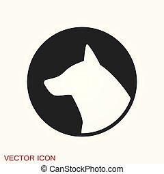犬, あなたの, ベクトル, icon., 要素, デザイン