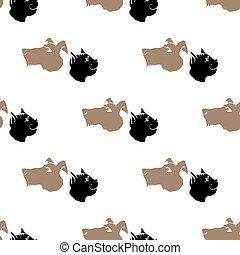 犬, 動物, ねこ, pattern., seamless