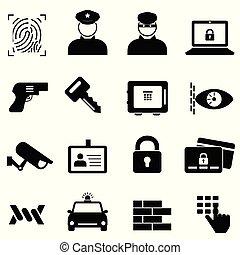 犯罪, セキュリティー, 安全, アイコン