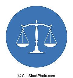 犯罪, illustration., シンボル, バックグラウンド。, 正義, ベクトル, 隔離された, 黒, スタイル, 白, アイコン, 株, スケール