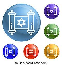 犹太, 放置, 纸莎草, 图标