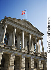 狀態, 佐治亞, 州議會大廈, 建筑物。