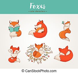 狐狸, 字符, 漂亮, 可愛, 說明