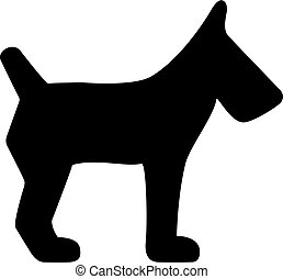 狗, 矢量, 圖象