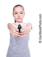 狙いを定める, 銃, 子供